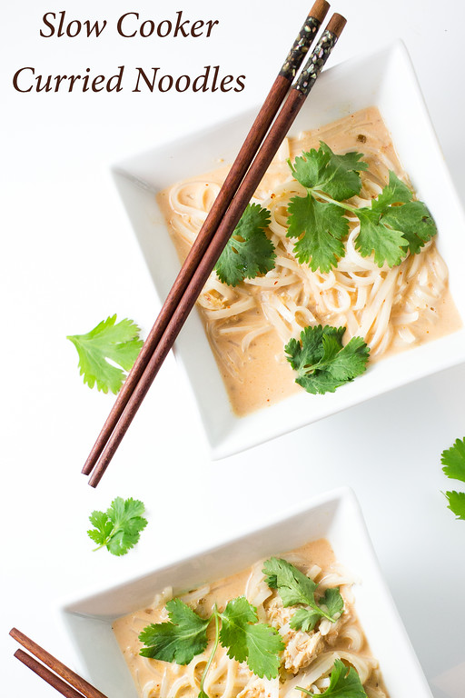 Hot and spicy Slow Cooker Curried Noodles