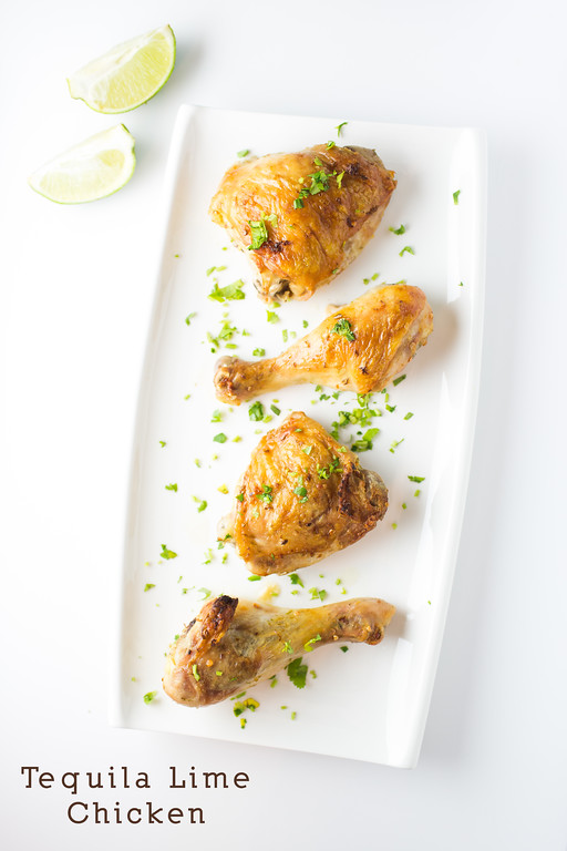 Tequila Lime Chicken - this chicken gets a load of flavor from the tequila lime marinade and roasts up crispy on the outside and moist and tender on the inside.