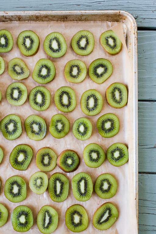 Smoothie Tip - freeze your kiwi!