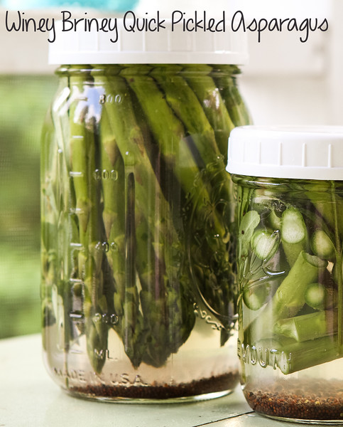 Winey Briney Quick Pickled Asparagus - quick pickles that are delicious and require no canning!