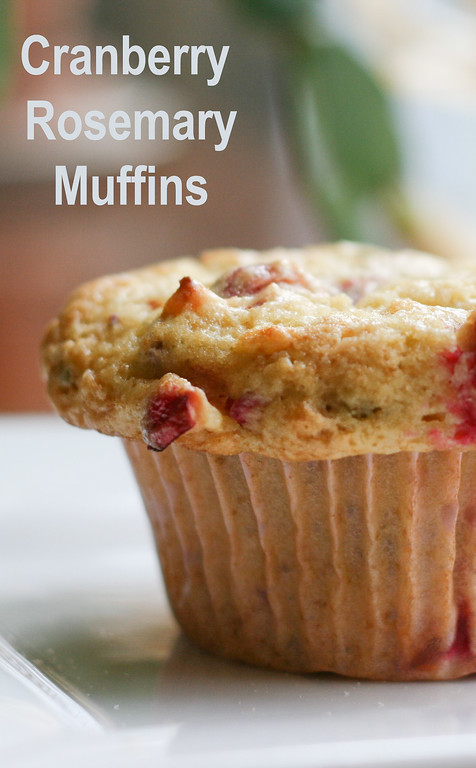 Cranberry Rosemary Muffins - you're going to love the combination of cranberry, rosemary and orange in these delicious muffins!