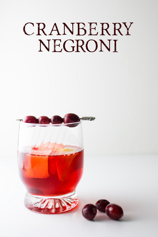 Cranberry negroni - gin, vermouth and brandied cranberry syrup make this a delicious holiday (or anytime) negroni