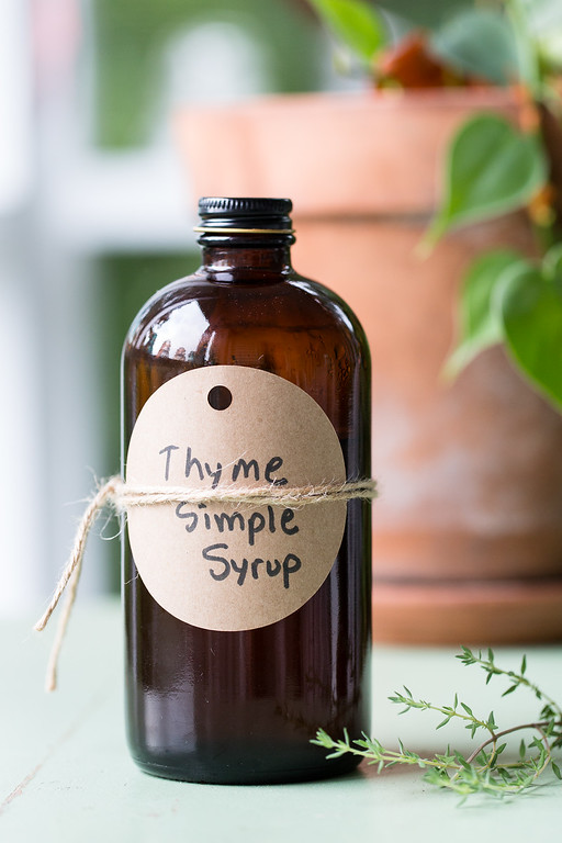 Thyme Simple Syrup - the perfect way to kick up your cocktails!