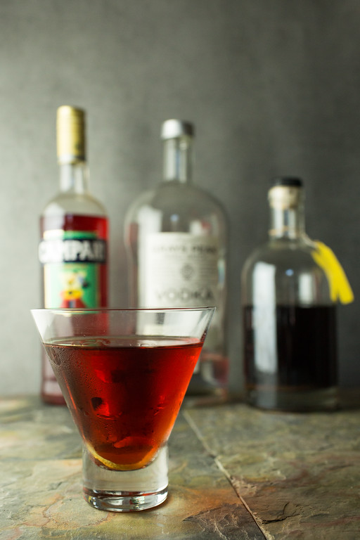 East Wing - Vodka, Campari and Cherry Brandy