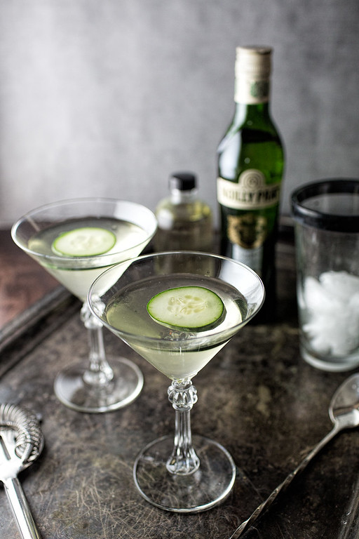 Spicy Cucumber Martini - made with spicy cucumber infused gin