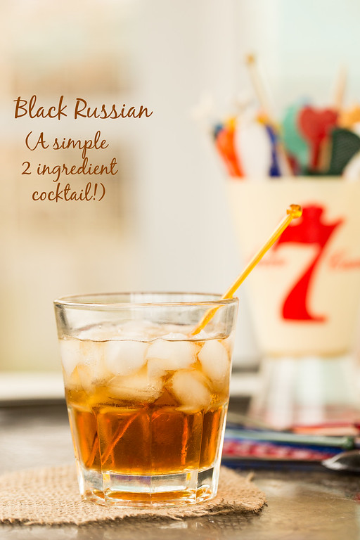 The Black Russian - a simple two-ingredient cocktail!
