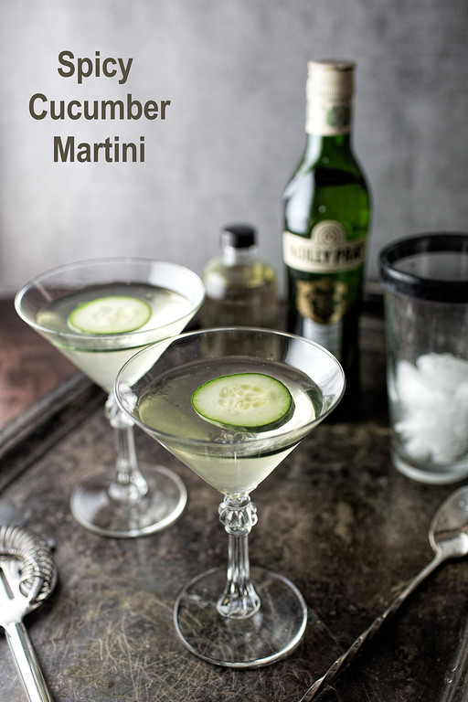 Spicy Cucumber Martini - so good, they're dangerous!!