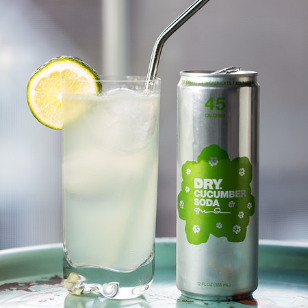 Gin Cucumber Cooler with Dry Cucumber Soda
