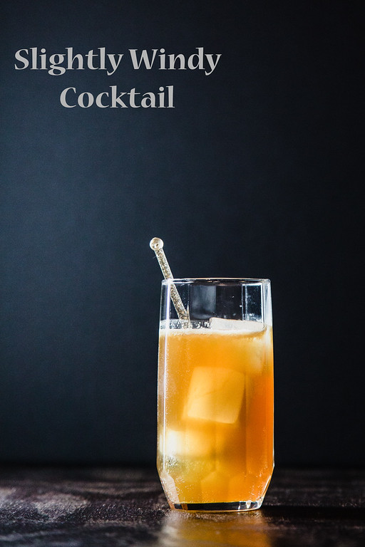 Slightly Windy Cocktail - featuring Ginger Dry Sparkling and rum!