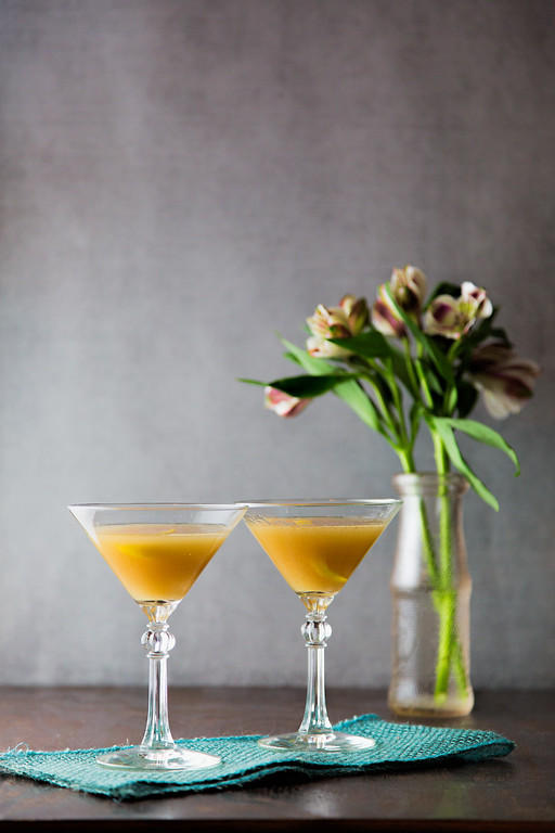 Brandy, orange bitters and orgeat syrup make a delicious cocktail called Japanese Cocktail.
