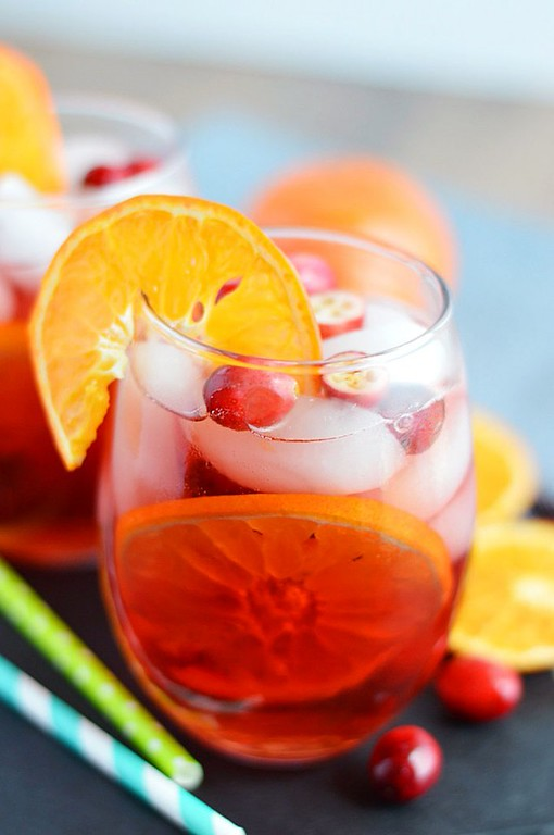 Cranberry Orange Sangria from What the Fork!