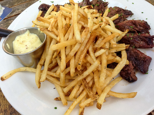 Steak Frites from 1885 Grill   Grey is the New Black