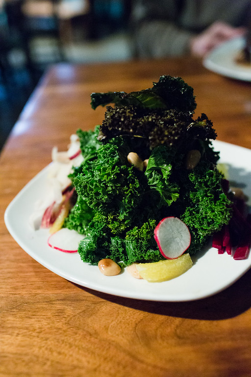 Kale 2 ways salad from Root Kitchen and Wine Bar