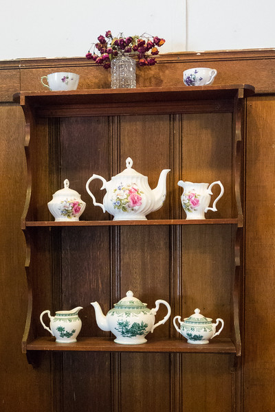 Teapots at Simply Savor Events Cafe