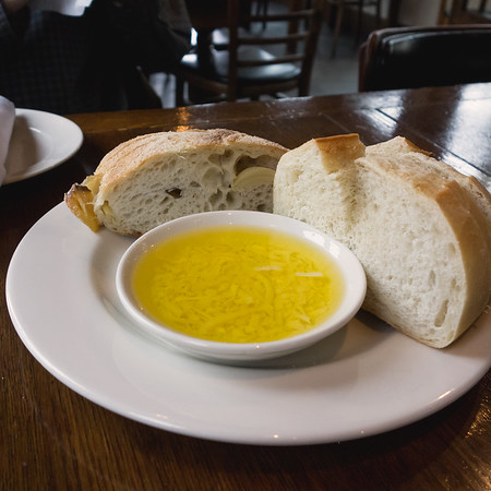 Bread and Olive oil at Tony's Pasta Shop Chattanooga TN