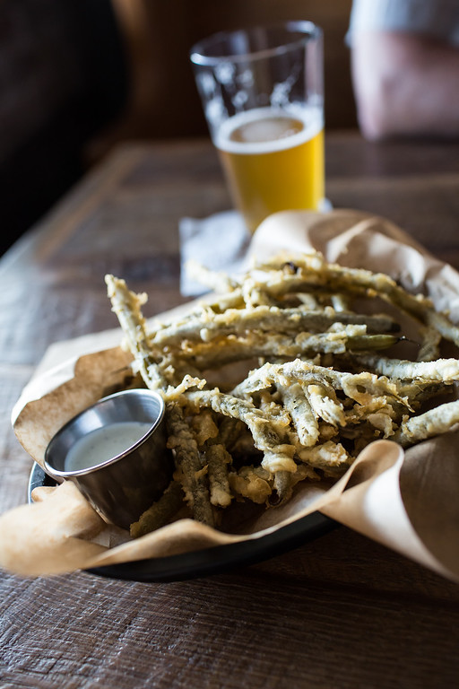 Fried Pickled Green Beans from The Feed Co. Table & Tavern