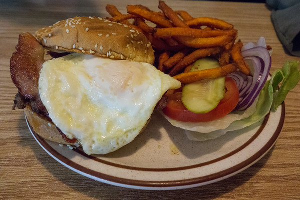 The Country Burger from Vic's Cafe in Paso Robles California