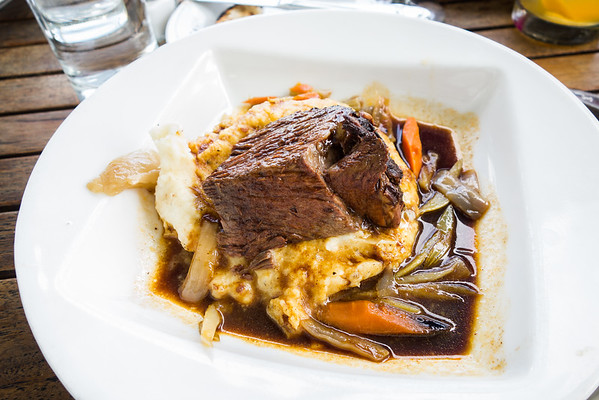 Red Wine Braised Pot Roast at The Public House in Chattanooga.