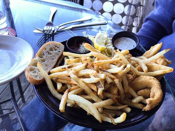 Fried Catfish with Olive Oil Fries | Boathouse Rotisserie and Raw Bar