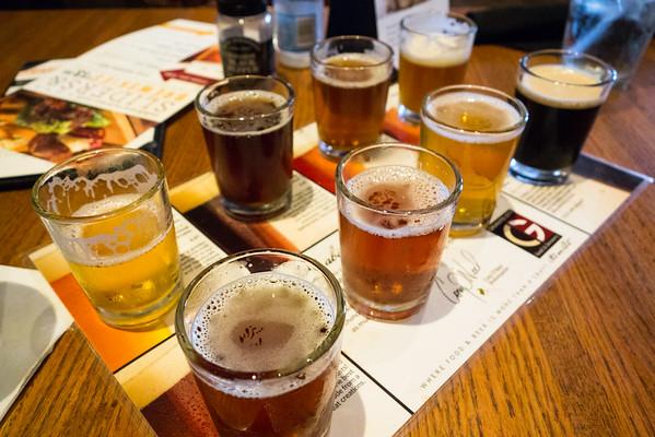 Beer Flight from Granite City Brewery, St. Louis, Missouri