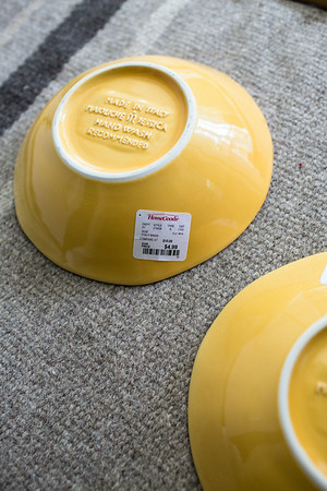 Yellow Made in Italy Bowls | #homegoodshappy | Grey is the New Black