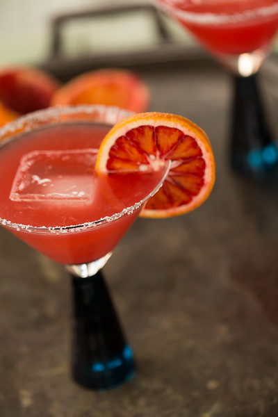Tovolo King Cube Ice Cube in Blood Orange Margarita