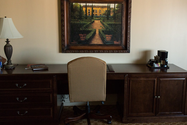 Big desk at Best Western Victorian Inn Monterey California