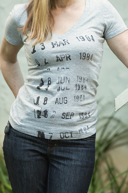 Out of Print Library Stamp Tee Shirt