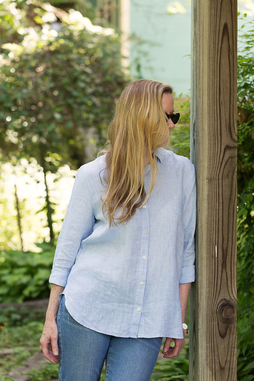 J. Jill Yarn-Died Linen Big Shirt - the perfect summer shirt