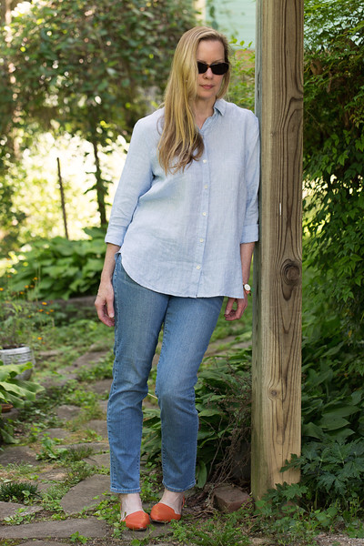 J. Jill Yarn-Died Linen Big Shirt - the perfect summer shirt!