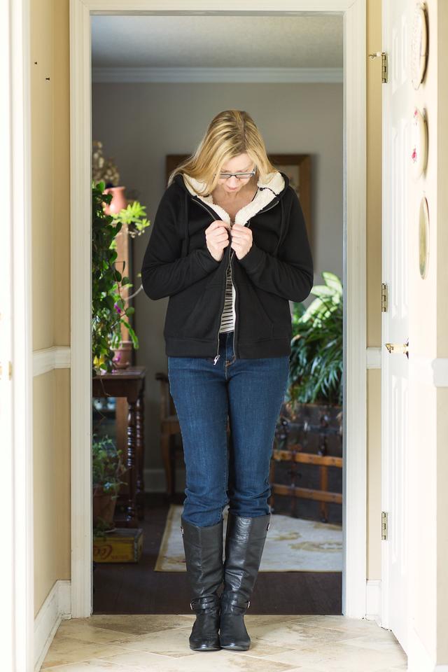 Kohl's Sonoma Fleece Lined Sweater.