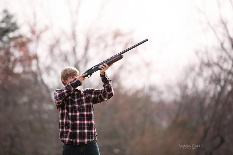 Chattanooga senior boy with hunting rifle