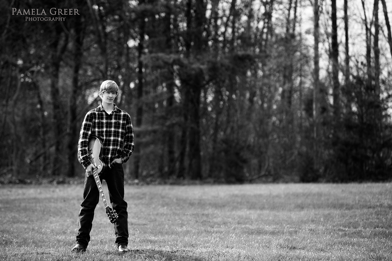 Chattanooga Senior Boy with Guitar